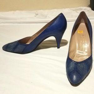 Vintage Bruno Magli Snakeskin & Leather Heels